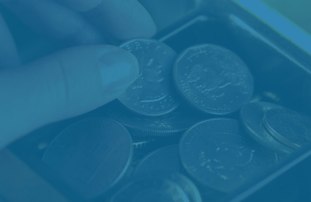Saving coins to achieve financial goals.