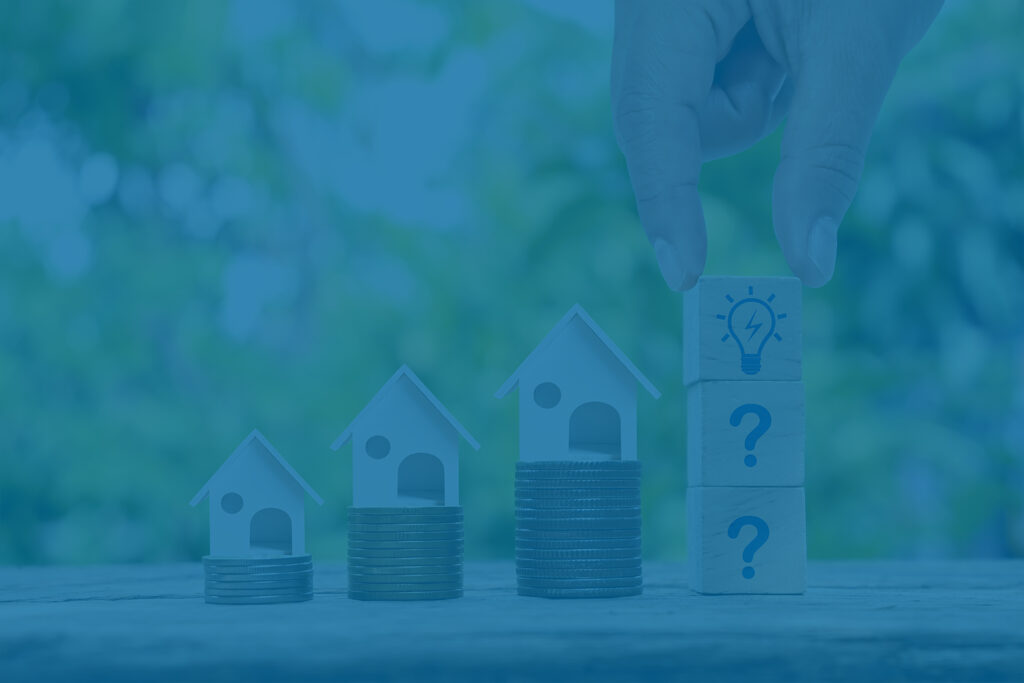 Real estate investment concept - saving money for college expenses
